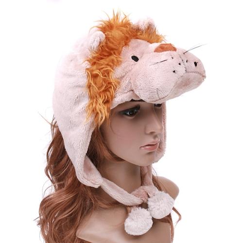 Cartoon Lion Super Miękkie Krótki Fuzzy Hat Cap