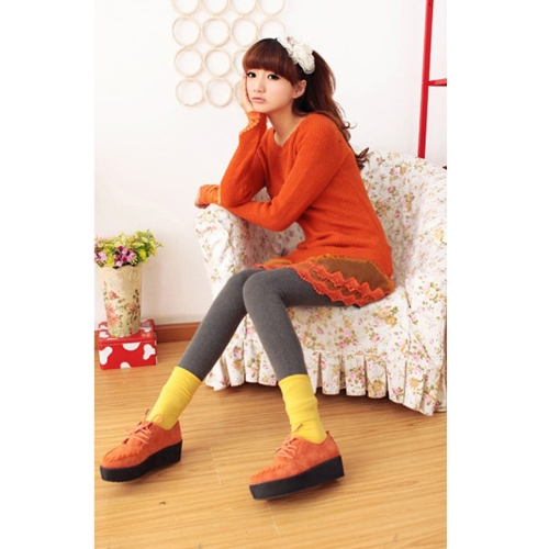 Damski Sweter Knitting Wool Bluzka Sukienka Koronka Hem
