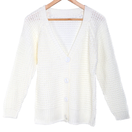Damen Langarm Cardigan Sweater