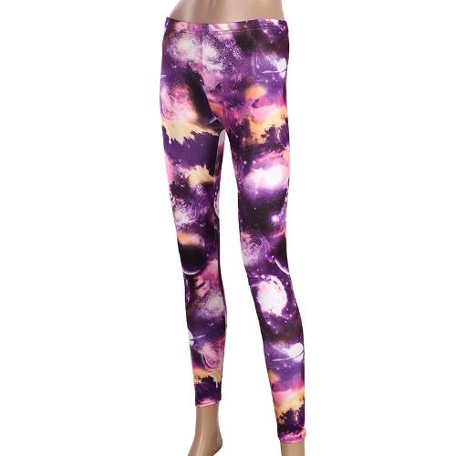 Galaxia Leggings Pantalones de mujeres