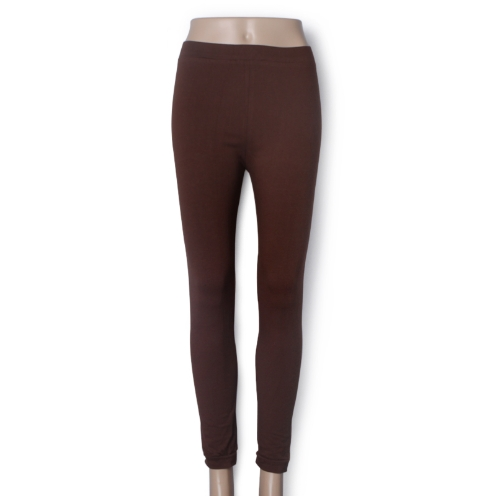 Nueva moda Color caramelo mujeres polainas dama medias elásticas pantalones café