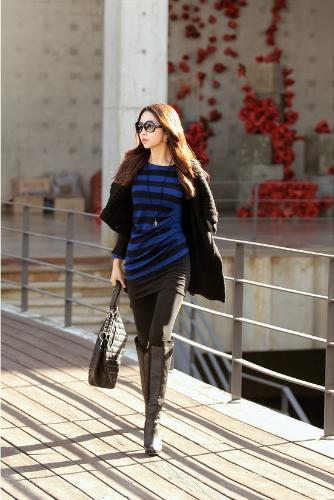 Moda donna Cardigan scialle collare solido scrollata lungo maglione OL sciolto cappotto maglieria Black