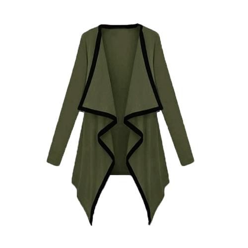 Tapas de nuevo de moda las mujeres abrigos asimétricos contraste capa manga larga cabo chaqueta