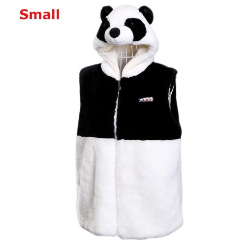 Kapuzen Panda Weste hübsch dicken Plüsch-Tops