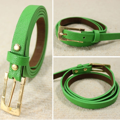 Cintura cinturón delgado Color caramelo cintura