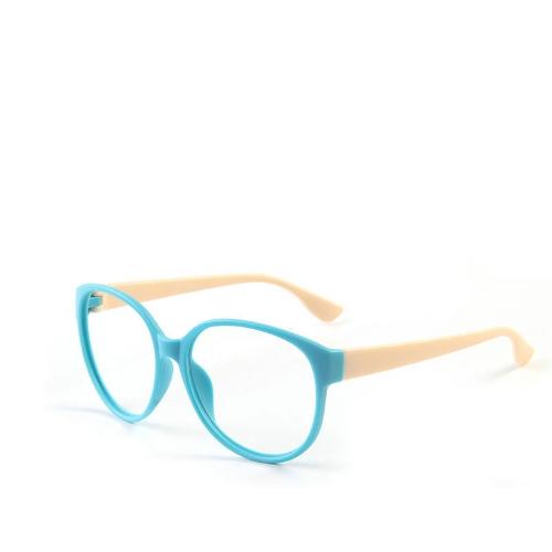 Marco de la moda unisex mujeres de los hombres de los vidrios de las lentes del objetivo n Gafas Nerd + Azul Beige