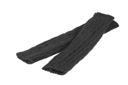 Moda invierno hombres mujeres guantes mitón cálido brazo Fingerless punto largo Unisex gris oscuro
