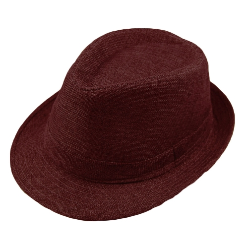 Fashion Men Women Casual Fedora Hat Pinched Crown Beach Sun Cap Panama Hat Unisex
