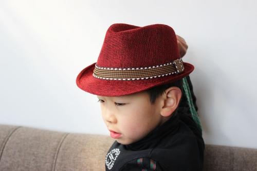 1b8c3285022 Afbeelding van New Fashion Kids Boy Girl Unisex Fedora Hat Contrast Trim  Cool Jazz Hat Trilby