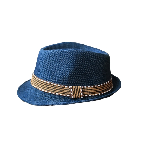 New Fashion Kids Boy Girl Unisex Fedora Hat Contrast Trim Cool Jazz Hat Trilby Cap Chapeau