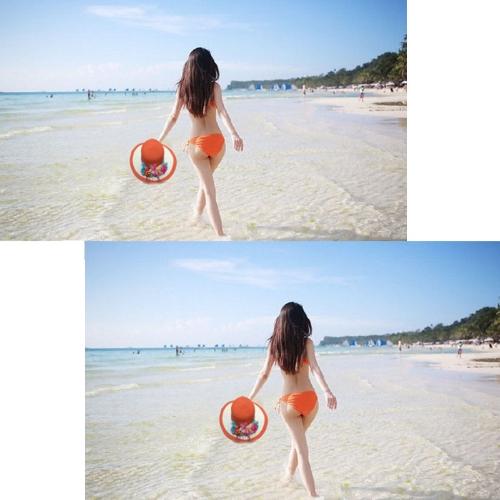 Neue Sommer Frauen Strohhut breiter Krempe bunte Blume Diskette klappbar Sun Beach Hut Kopfbedeckung