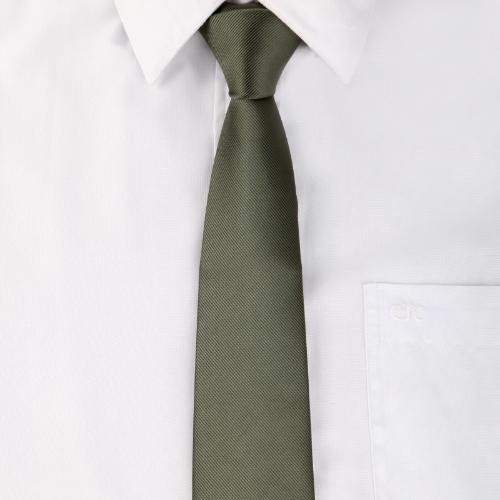 Cuello corbata corbata llano boda fiesta informal ejército verde nuevo Color sólido clásico masculino