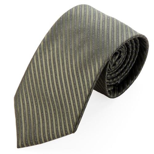 Cuello corbata rayas Color sólido corbata boda novio ejército partido verde moda clásica masculina