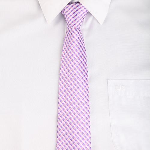 Corbata corbata raya boda del telar jacquar novio fiesta Lila poliéster varonil clásica