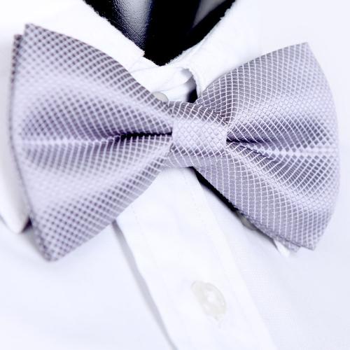 Smoking Bowtie sólido Color corbatas ajustable boda fiesta pajarita corbata pre-atado gris claro moda hombre