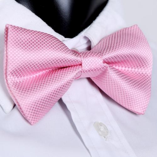 Moda smoking Bowtie sólido Color corbatas de hombres ajustable boda fiesta pajarita corbata rosa pre-atado