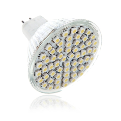 MR16 G5.3 4W 60SMD 3528 1210 LED Light Bulb Lamp Spotlight Warm White 220V Energy Saving