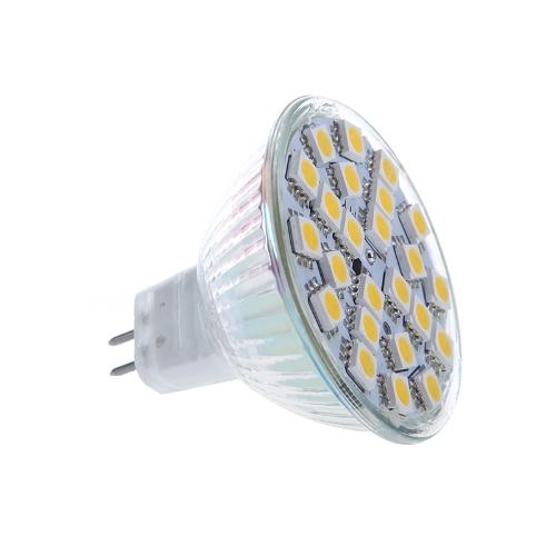 MR16 G5.6 5W 24SMD 5050 LED Light Bulb Lamp Spotlight Warm White 220V Energy Saving