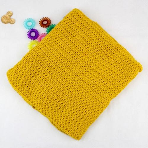 Moda invierno niños niños bufanda niño niña punto sólido abrigo cálido pañuelo amarillo