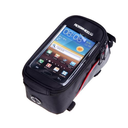 Roswheel велосипед велосипедов рамы передние трубки сумка прозрачная ПВХ с аудио выносной линии для 5.5 «Cellphone красный