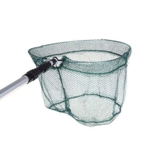 2in1 Fishing Folding Landing Net & Extending Foldable Pole Handle Fishing Net Image