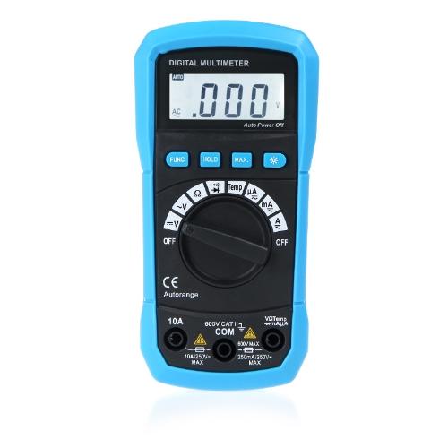 デジタル マルチメータ DMM 温度測定自動範囲 Max。データ保持 LCD バックライト