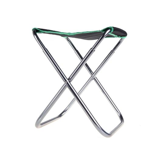 Портативный складной алюминиевый Оксфорд ткани стул открытый патио рыбалка кемпинг с снести мешок Грин