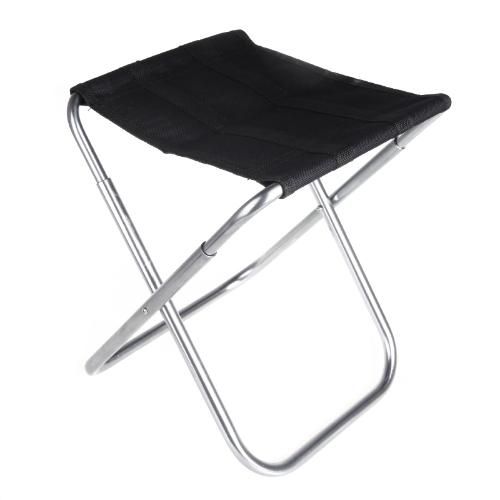 Portatile pieghevole in alluminio Oxford panno sedia Patio all'aperto Pesca Campeggio con Carry Bag Black