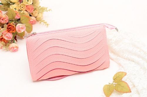 Moda mujeres bolso de embrague PU cuero bolso Color caramelo monedero cartera pequeño hombro Messenger Bag rosa