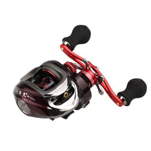 12BB 6.3: 1 mano sinistra esca colata pesca mulinello 11Ball cuscinetti + frizione unidirezionale ad alta velocità rosso