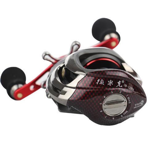 12BB 6.3: 1 mano destra mulinello pesca mulinello 11Ball cuscinetti + frizione unidirezionale ad alta velocità rosso