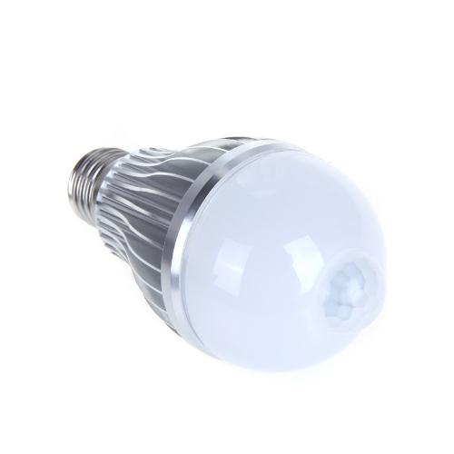 4W E27 светодиодные лампы авто пир движения ИК датчик обнаружения лампа белого света