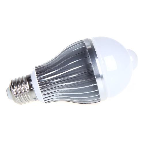 8W E27 LED Bulb Auto PIR Infrared Motion Sensor Detection Lamp White Light