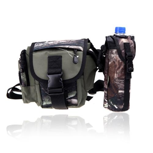 Mehrzweck-Angelausrüstung Bag Lure Bein Waist Pack Pole Paket Messenger Bag Camouflage