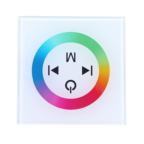 Touch Panel LED Dimmer Controller for 5050/3528 RGB LED Strip Light 12-24V White