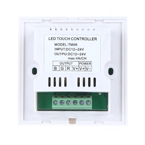 Touch Panel LED Dimmer Regolatore per 5050/3528 RGB LED Strip luce 12-24V bianco