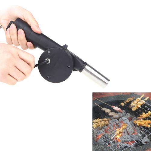 BBQ Fan Air Blower Handkurbel angetrieben für Grill Feuer Picknick Camping im freien