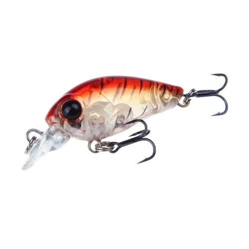 Trulinoya DW24 35mm 3.5g 1.2m Mini Crank Esca dura di Pesca con BKK Gancio Rosso