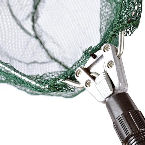 Triangular Folding Fishing Landing Net Aluminum 3 Section Extending Pole Handle Image