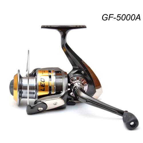 3Ball rodamientos intercambiable izquierda/derecha empuñadura plegable pesca Spinning Reel GF5000A 5.2:1