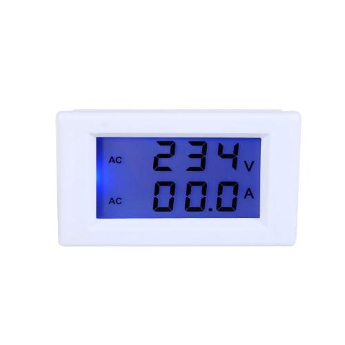 Цифровой LCD напряжения метр амперметр вольтметр с двойной дисплей текущего трансформатор AC80-300В 0-100А