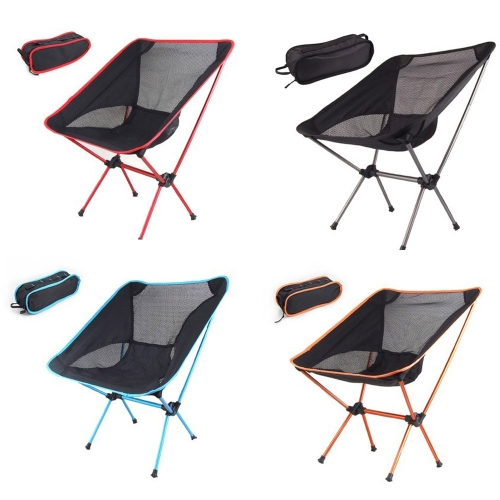 Portable Folding Camping Stool Chair Seat for Fishing Festival Picnic BBQ Beach with Bag Black