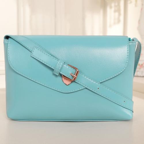 Retro Frauen Mädchen Umhängetasche Candy Farbe Satchel Crossbody Messenger Tasche blau