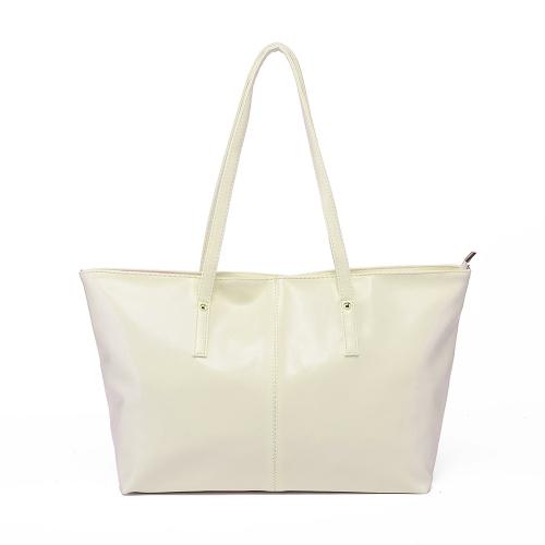 Nueva moda mujer PU cuero bolso Color caramelo bolso bandolera Beige