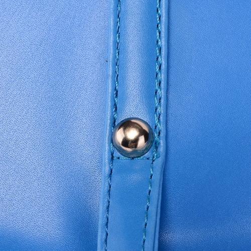 Новые женской моды Пу кожаная сумочка конфеты цвет тотализатор сумка синяя
