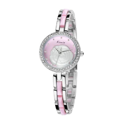 KIMIO moda clásica chicas señoras cuarzo mujer pulsera reloj elegante diseño KW500S rosa
