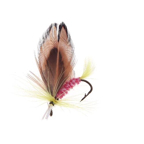 Летать рыболовных крючков, рыбалка приманка перо стали приманка крючок решать 12шт