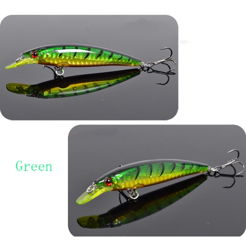 Trulinoya DW11 95mm 9g 1m Mini Crank Fishing Lure Hard Bait with BKK Hooks Green