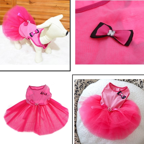 Pet Dog Doggy Dress Clothes Skirt Lovely Bowknot Apparel Costume