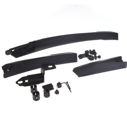 Mountain Bike Bicycle Front & Rear Mudguard Set Kit Black Universal